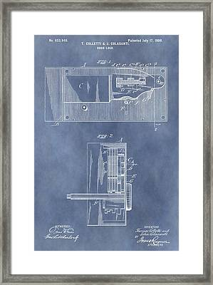 Vintage Door Lock Patent Framed Print by Dan Sproul
