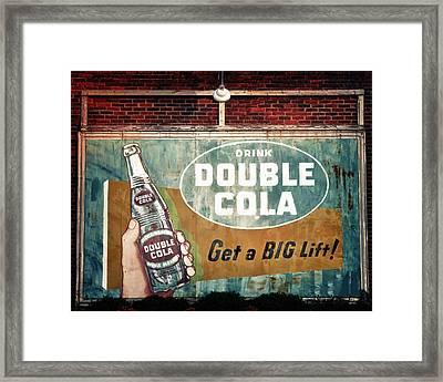 Vintage Double Cola Sign Framed Print