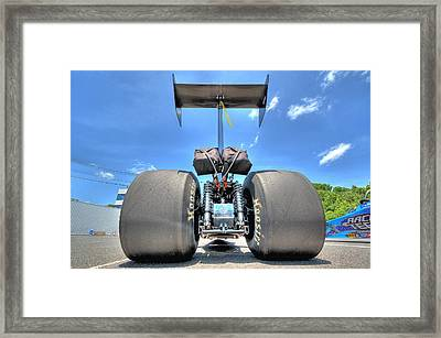 Vintage Drag Racer Framed Print by Gianfranco Weiss