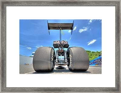Vintage Drag Racer Framed Print