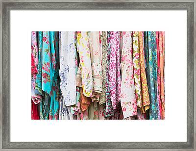 Vintage Dresses Framed Print by Tom Gowanlock