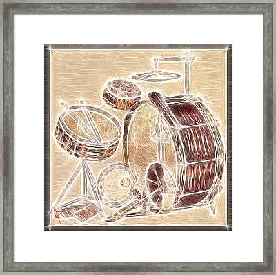 Vintage Drums Framed Print by Russell Pierce