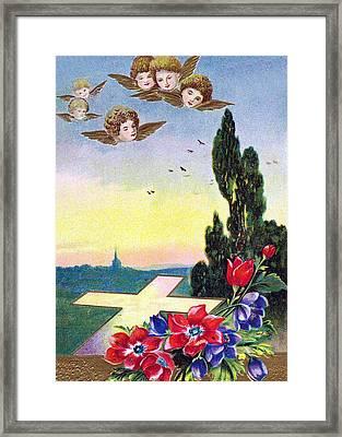 Vintage Easter Card Framed Print