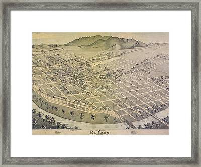 Vintage El Paso Map Framed Print by Dan Sproul