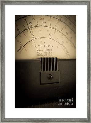 Vintage Electric Meter Framed Print