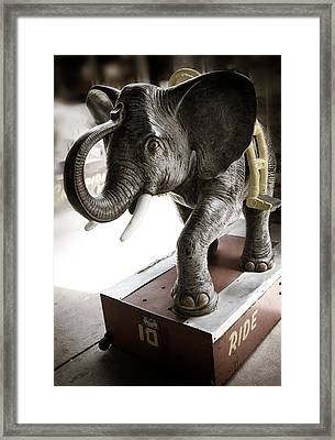 Vintage Elephant Ride Framed Print by Marilyn Hunt