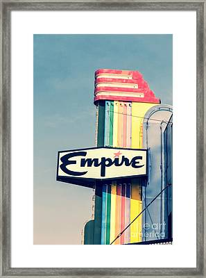 Vintage Empire Theater Sign Framed Print by Edward Fielding
