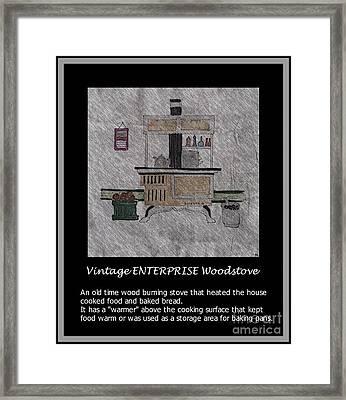 Vintage Enterprise Woodstove Framed Print by Barbara Griffin