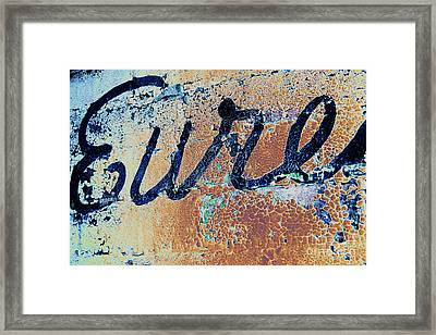 Framed Print featuring the photograph Vintage Eureka by Steven Bateson