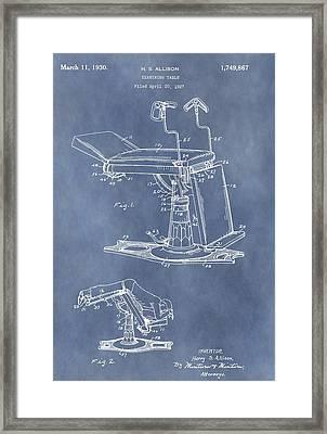 Vintage Examination Table Patent Framed Print
