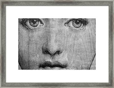 Vintage Face Framed Print by Edward Fielding