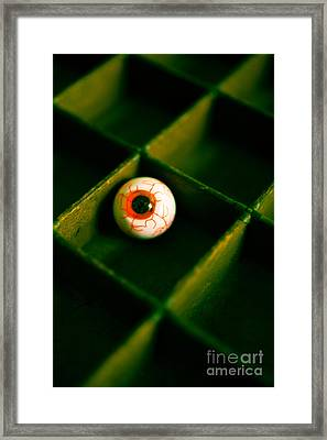 Vintage Fake Eyeball Framed Print by Edward Fielding