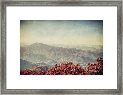Vintage Fall Framed Print by Emily Kay