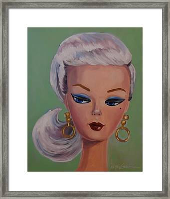 Vintage Fashion Doll Series  Framed Print by Kelley Smith