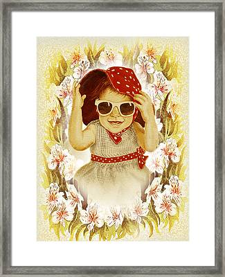 Framed Print featuring the painting Vintage Fashion Girl by Irina Sztukowski