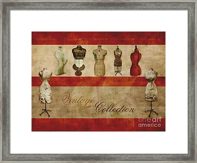 Vintage Fashion Mannequins - 02t Framed Print by Variance Collections