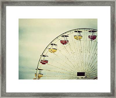 Vintage Ferris Wheel Framed Print by Kim Hojnacki