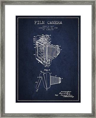 Vintage Film Camera Patent From 1948 Framed Print by Aged Pixel