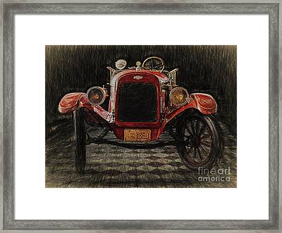 Vintage Fire Truck  ... Framed Print by Chuck Caramella