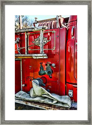 Vintage Fire Truck Framed Print by Paul Ward