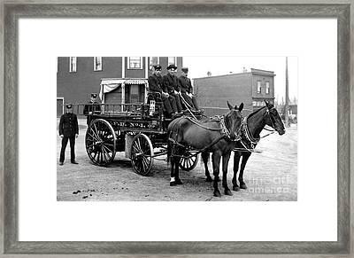 Vintage Fire Wagon Framed Print