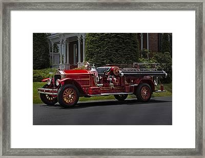 Vintage Firetruck Framed Print
