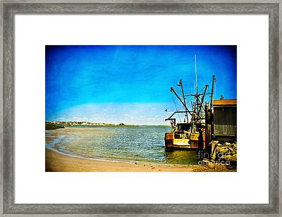 Vintage Fishing Boat Framed Print by Colleen Kammerer