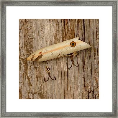 Vintage Fishing Lure Framed Print by Art Block Collections