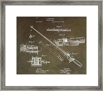 Vintage Fishing Tackle Patent Framed Print