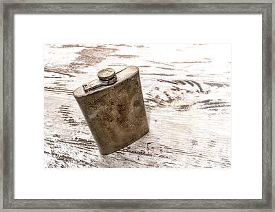 Vintage Flask Framed Print