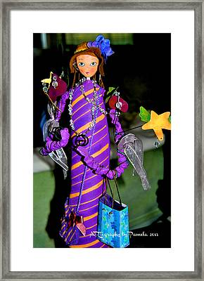 Flea Market Shopping Fairy Framed Print by ARTography by Pamela Smale Williams