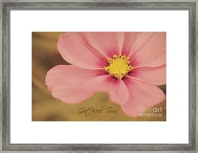 Vintage Floral - Get Well Soon Card Framed Print by Aimelle