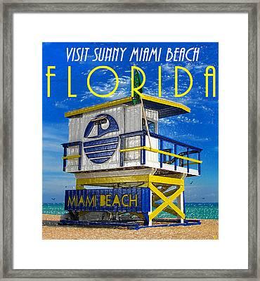 Vintage Florida Travel Style Artwork Framed Print by David Lee Thompson