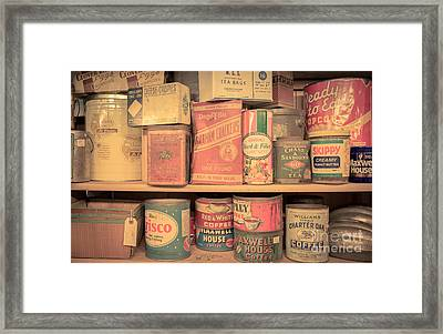 Vintage Food Pantry Framed Print by Edward Fielding