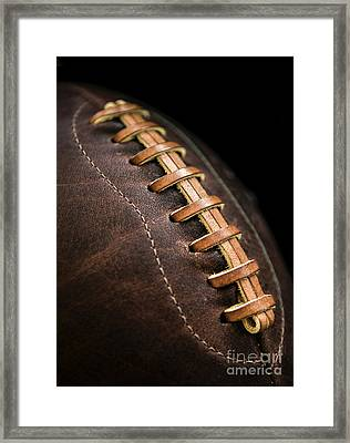 Vintage Football Framed Print by Diane Diederich