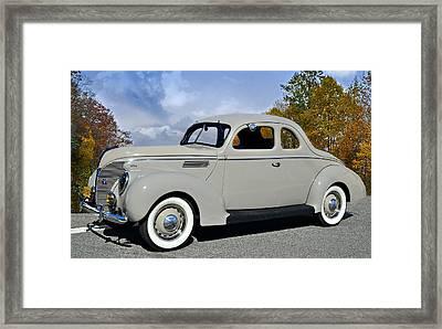Vintage Ford Framed Print by Susan Leggett