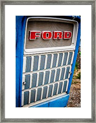 Vintage Ford Tractoy Framed Print by Dawn Romine