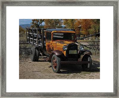 Vintage Ford Truck 2 Framed Print by Kae Cheatham