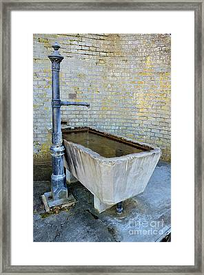 Vintage Fountain Framed Print