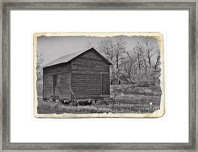 Vintage Frosty Morning 2 Framed Print by Chalet Roome-Rigdon
