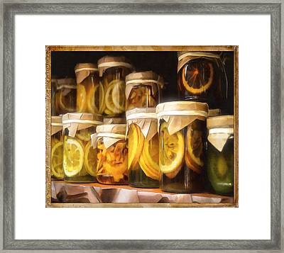 Vintage Fruit And Vegetable Preserves IIII Framed Print by Georgiana Romanovna