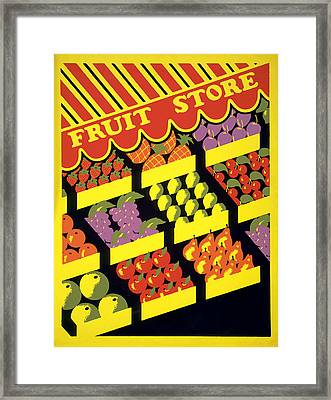 Framed Print featuring the painting Vintage Fruit Stand by American Classic Art