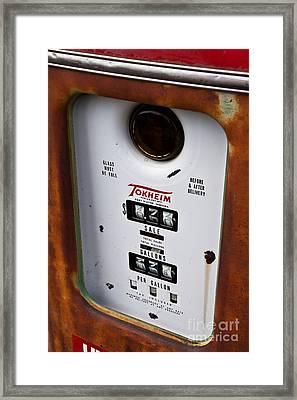 Vintage Fuel Pump Framed Print