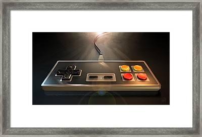 Vintage Gaming Controller Framed Print