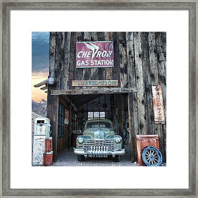 Vintage Gas And Lube Framed Print