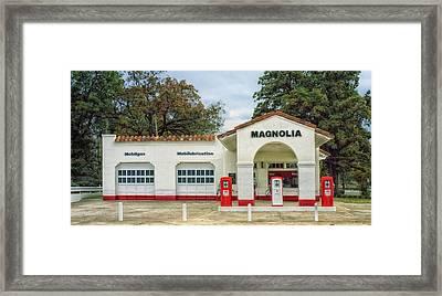 Vintage Gas Station - Little Rock Arkansas Framed Print by Mountain Dreams