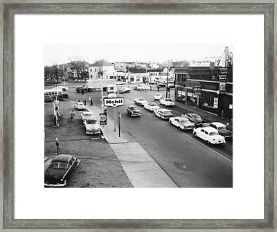 Vintage Gas Station Framed Print by Retro Images Archive