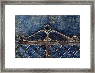 Vintage Gate - Fence - Chain Link - Texture - Abstract Framed Print by Andee Design