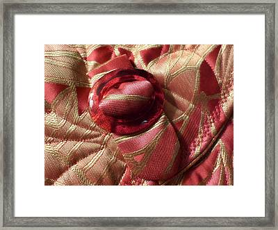 Vintage Glass Buckle Framed Print by Ginny Schmidt