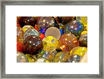 Vintage Glass Marbles Framed Print